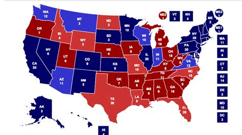 electoral map  football  nfl  college football