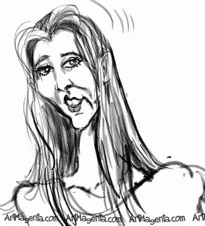 Lisa Kudrow Drawing Caricature Caricatures