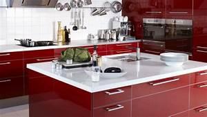 Rote Arbeitsplatte Küche : 45 wundersch ne ideen f r k chengestaltung ~ Sanjose-hotels-ca.com Haus und Dekorationen