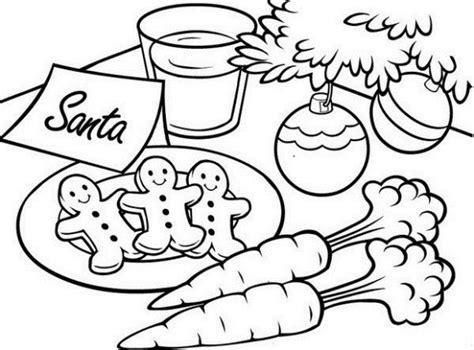 Christmas Coloring Pages For Gingerbread Santa