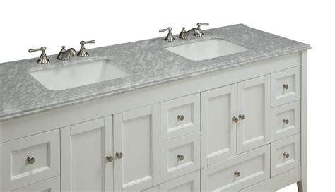 72 inch sink bathroom vanities adelina 72 inch sink bathroom vanity white finish 24805