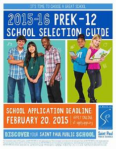 Spps 2015-2016 Prek-12 School Selection Guide