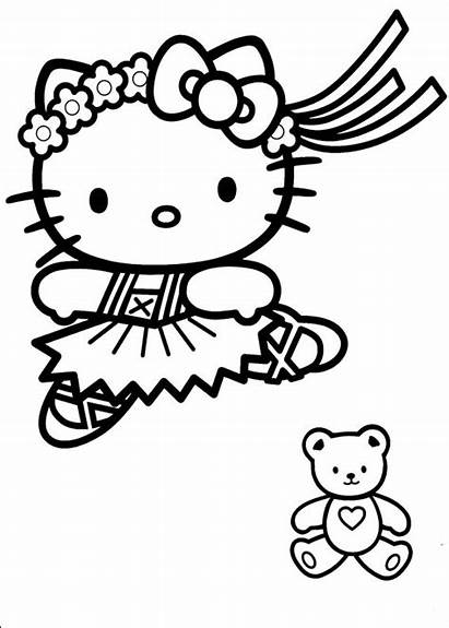 Kitty Hello Coloring Pages Fun Colouring Printable