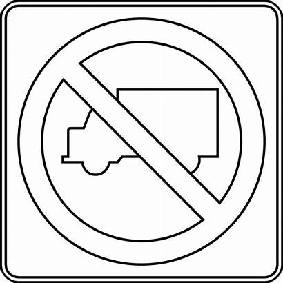 Signs Traffic Coloring Sign Pages Road Outline