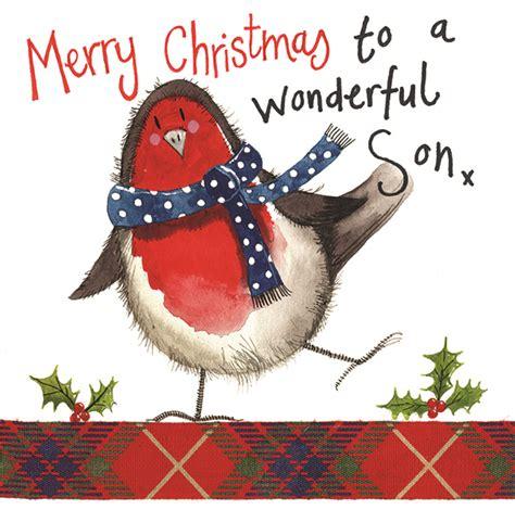 robin son christmas card alex clark art