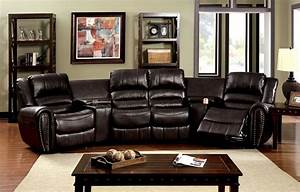 furniture of america cm6961 washburn transitional rustic With home theater reclining sectional sofa