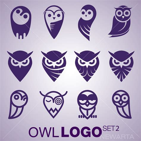 Owl Logo Set 2 Newarta
