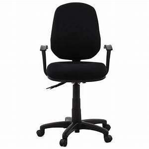 Chaise à Roulettes : chaise de bureau ergonomique roulettes belou en tissu noir ~ Melissatoandfro.com Idées de Décoration