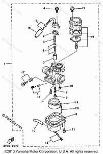 Yamaha Scooter 1983 Oem Parts Diagram For Carburetor
