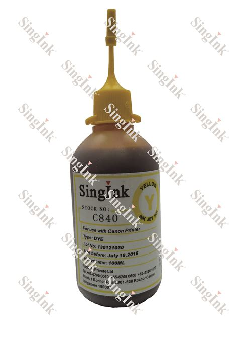 canon pg740 for canon c840 yellow dye ink 100ml singink