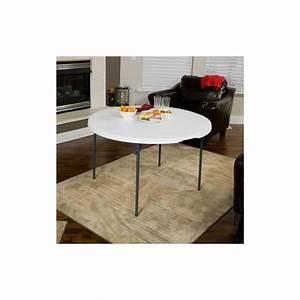Table Pliante Ronde : table pliante ronde promatome ~ Teatrodelosmanantiales.com Idées de Décoration