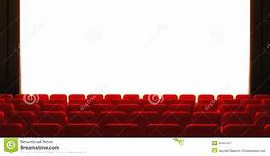 3d Empty Cinema Screen With Auditorium Stock Illustration ...