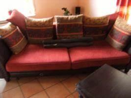 Sofa Kolonialstil Leder : sofa im kolonialstil in m hlhausen i t 4 sitzer rot microfaser ~ Indierocktalk.com Haus und Dekorationen