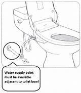 Toilet Bowl Water Point Drawing Technical Bidet Getdrawings Information Lean sketch template