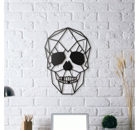 decoration murale metal accessoires deco skull metal wall decoration artwall and co