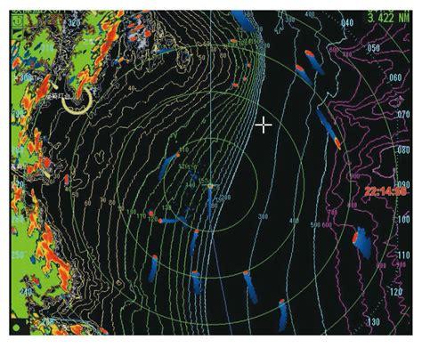 "This is a live view of doppler weather radar. 15"" MULTI-COLOR LCD RADAR FAR-1416   Marine Radar   Products   FURUNO"