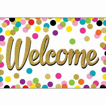 Welcome Confetti Teacher Postcards Created Resources