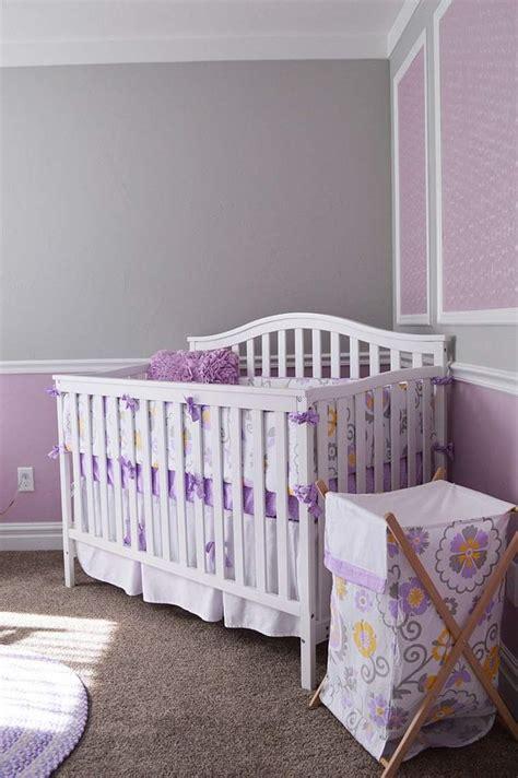 chambre couleur violet couleur chambre fille et gris