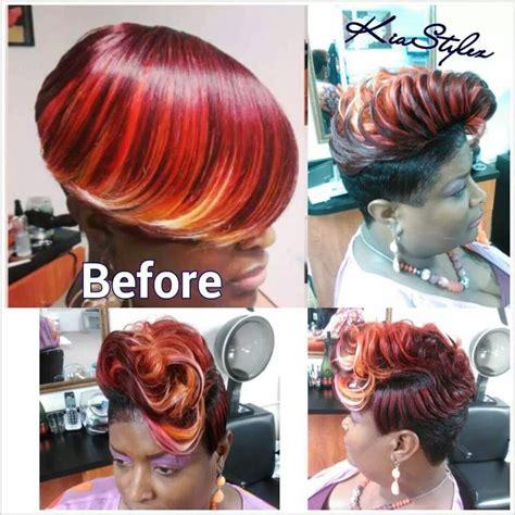 kia stylez  piece hairstyles hair styles dyed hair