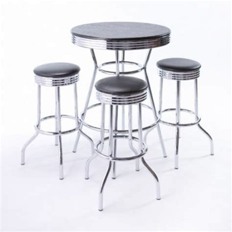 black wood chrome cabaret cocktail table rc special