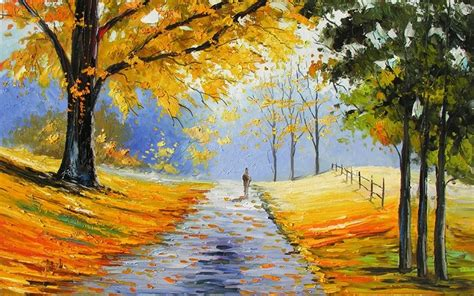 Nature Painting Wallpaper by Painting Of Nature Wallpaper Gallery