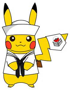 pokemon military pikachu dress whites