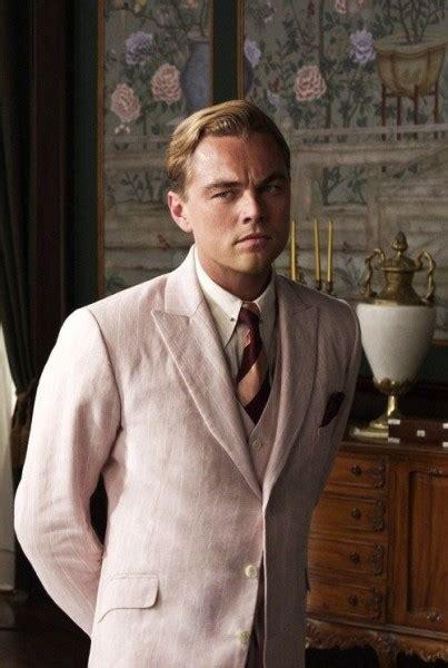 Great Gatsby Leonardo Dicaprio Linen Fabric Mens Pink Suit