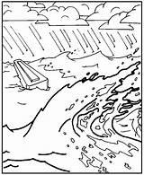 Flood Coloring Noah Sketch Sketchite Drawing sketch template