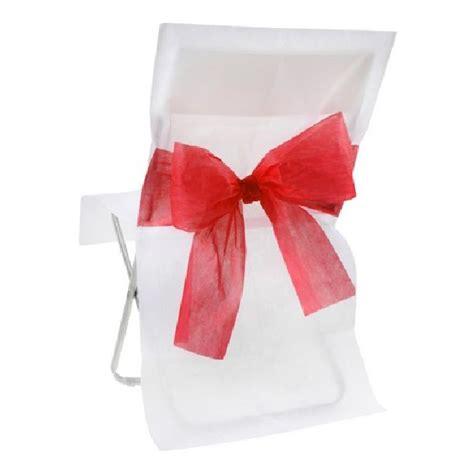 acheter housse de chaise mariage intiss 233 e blanche avec noeud mariage anniversaire 1001