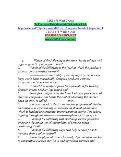 mkt 571 week 3 quiz by lily13 issuu