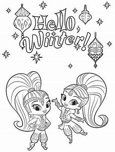 shimmer and shine coloring pages - free printable winter coloring pages