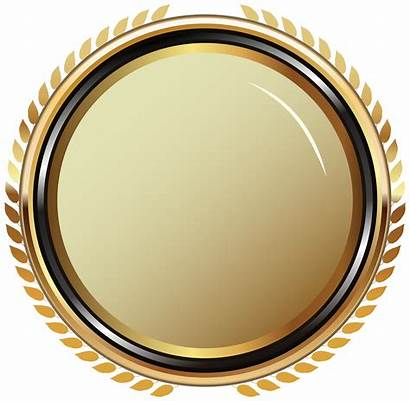 Gold Transparent Oval Golden Clip Badge Clipart