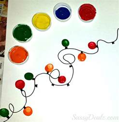 fingerprint christmas light craft for kids diy christmas card idea crafty morning