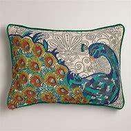 Peacock Blue Decorative Pillow