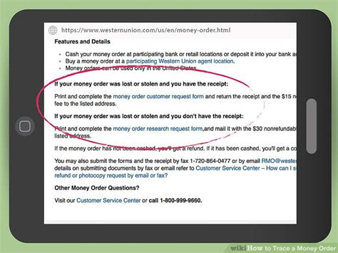 how to trace a money order 12 steps with wikihow
