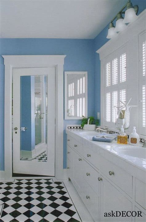 Colorful Bathroom Vanities by Adorable Light Blue Wall Colorful Bathroom With White