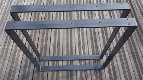 stock bureau direct pieds de table rectangulaires en acier plat pour table