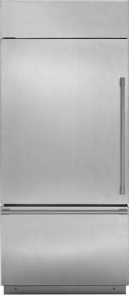 monogram zicsnnrh   bottom freezer refrigerator   hinge  cu ft