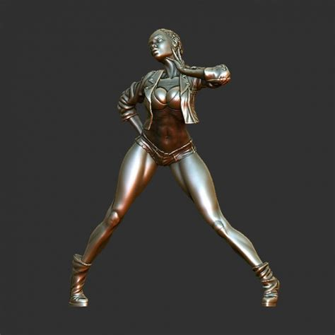 fillsta l 3d model statue pose 3d model obj stl