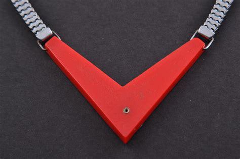plastic chrome art deco necklace art deco jewellery