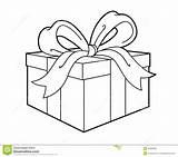 Present Gift Clipart Outline Clip Illustratie Illustrazione Abbildung Line Presents Anwesende Actuelle Huidige Attuale Parcel Give sketch template