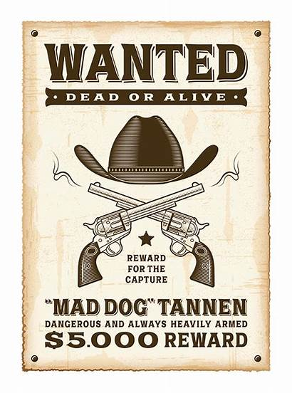 Wanted Poster Colora Mania Sticker Grey