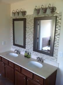 Backsplash Ideas For Bathroom Glass Tile Backsplash In Bathroom 4029
