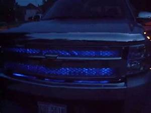 Lights For 2013 Chevy Silverado Pimped Out Chevy Silverado Blue Leds Ghost Projector