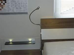 Lampe Bett Kopfteil : nachttisch mit led beleuchtung finest sterne mond hohl ~ Lateststills.com Haus und Dekorationen
