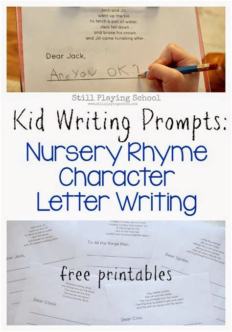 nursery rhyme letter writing literacy writing
