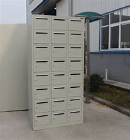 aluminum surface mounted usps access vertical mailbox with 7 door ...