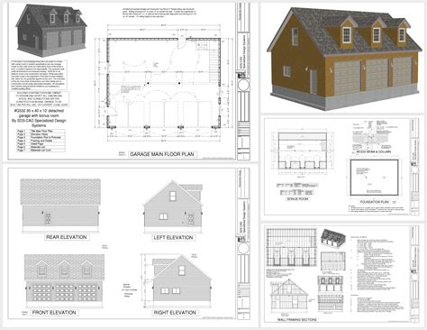 30 X 30 With Loft Floor Plans by G532 30 X 40 X 10 9 Plans