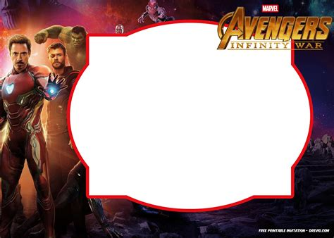 avengers infinity wars invitations template