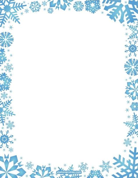 printable snowflake stationery and writing paper free pdf downloads at http stationerytree